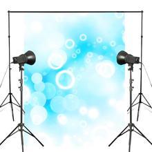 5x7ft Beautiful White Blue Bubble Photography Backdrop Circle Background Kids Photo Studio