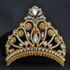 Miss Universe Crown Classical Queen Big Size Adjustable Royal Sparkly Rhinestones Gold Plated Tiaras And Crowns