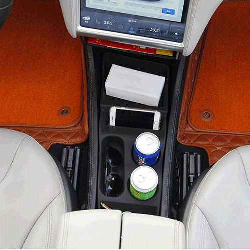 JY Silicone Storage Box Console Container Center Insert Box Cup Glasses Holder For Tesla Model S 2012 17 in Interior Mouldings from Automobiles Motorcycles