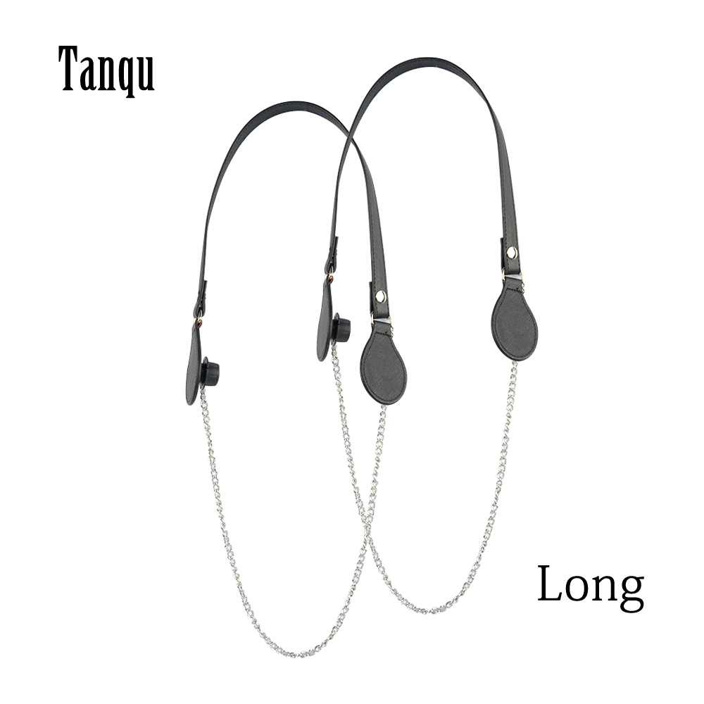 2019 Tanqu New Long Colorful Flat PU Belt Drop End With Long Chain For OBag Handles For O Bag EVAbag Women Bag Handbag