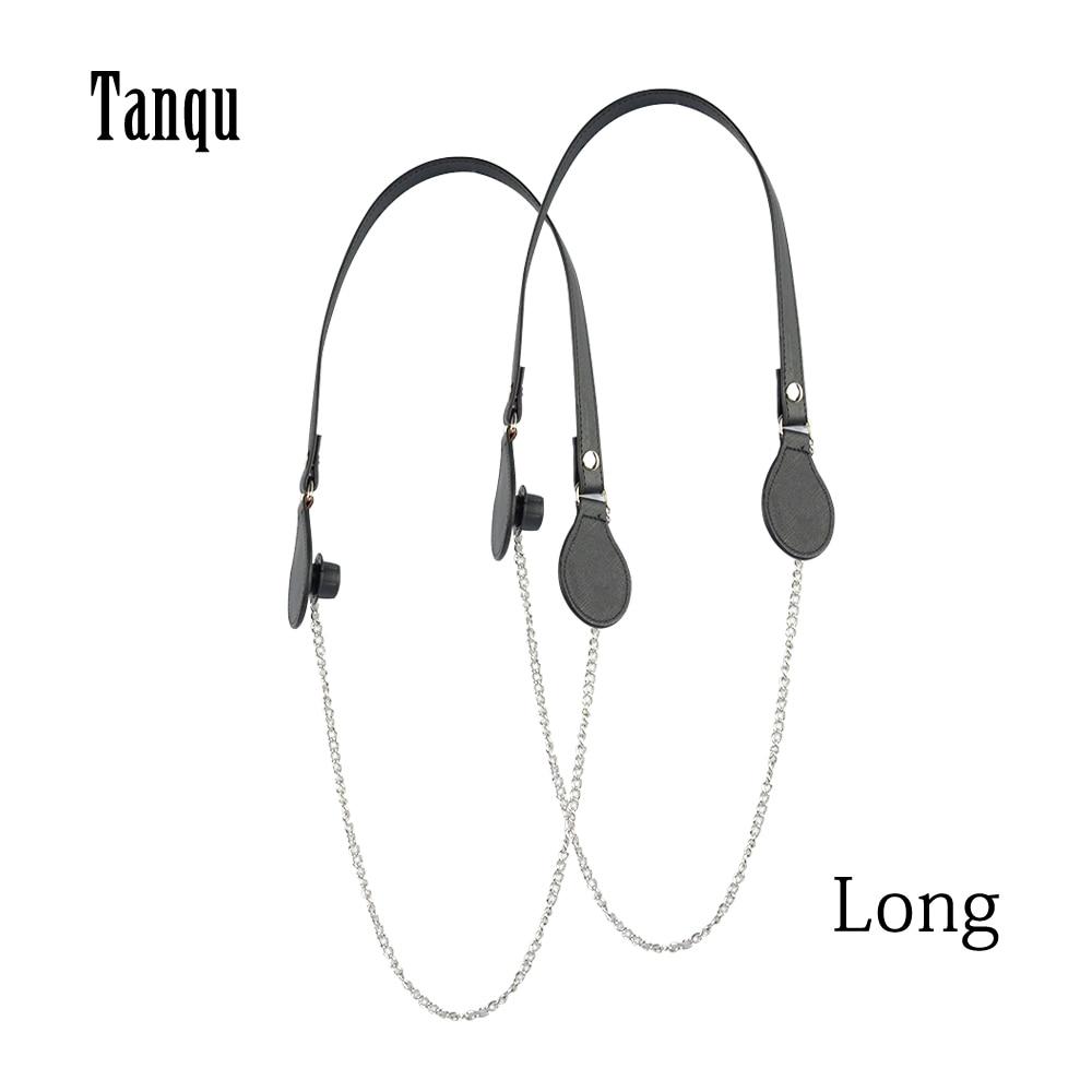 2019 Tanqu New Long Colorful Flat PU Belt Drop End With Long Chain For OBag Handles For O Bag EVAbag Women Bag Handbag