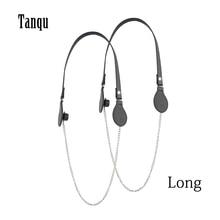 Tanqu חדש ארוך צבעוני שטוח PU חגורת זרוק סוף עם ארוך שרשרת עבור OBag ידיות עבור O תיק EVAbag נשים תיק תיק
