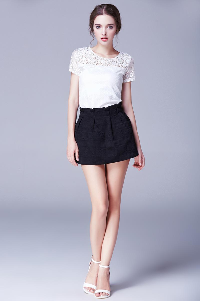 Aliexpress.com : Buy Elegant Crochet Mini Short Skirt OL Summer ...