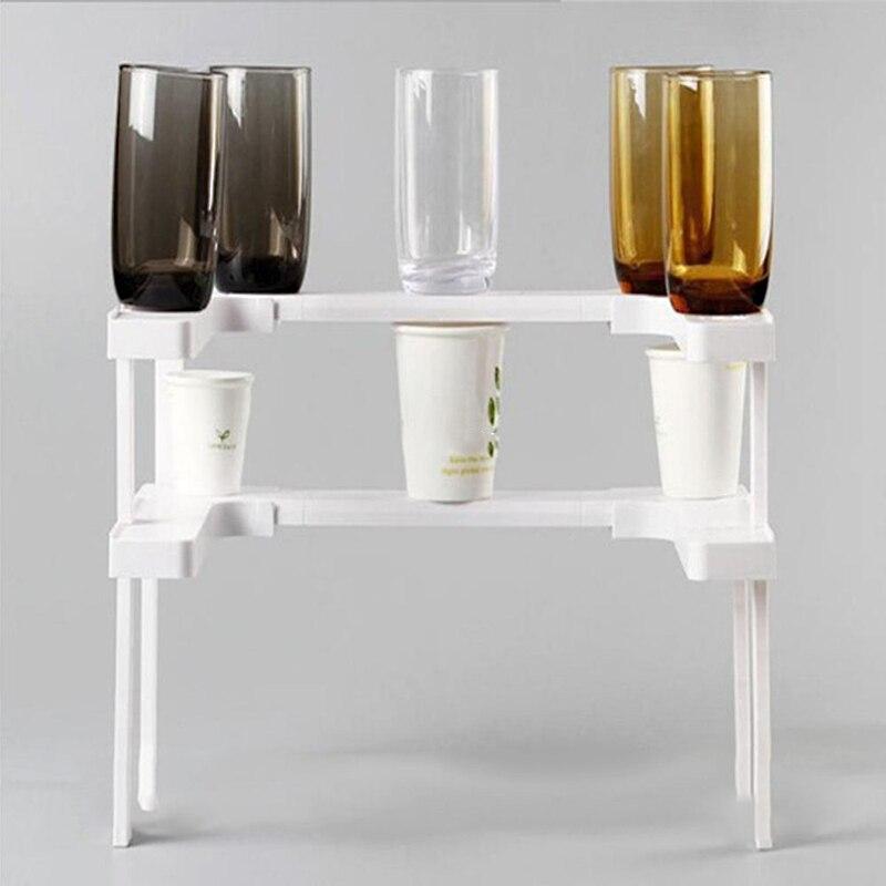 Kitchen Storage Rack For Seasoning Adjustable Organizer Seasoning Bottle Can Collector Beverage Storage Shelf Double-deck Wheel