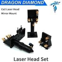 CO2 Engraver Cutter Laser Head Set 50 8mm Focal Focus Lens Mirror Integrative Mount Free Shipping