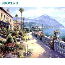 SDOYUNO 60x75cm Painting By Numbers Nature Landscape on canvas acrylic Paint Number Canvas Kits Home Decor Wall Art