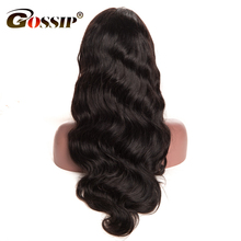 Gossip Lace Front Human Hair Wigs For Black Women 150 Density Brazilian Body Wave Pre Plucked 12*6 Inch Swiss Lace Wig Non Remy