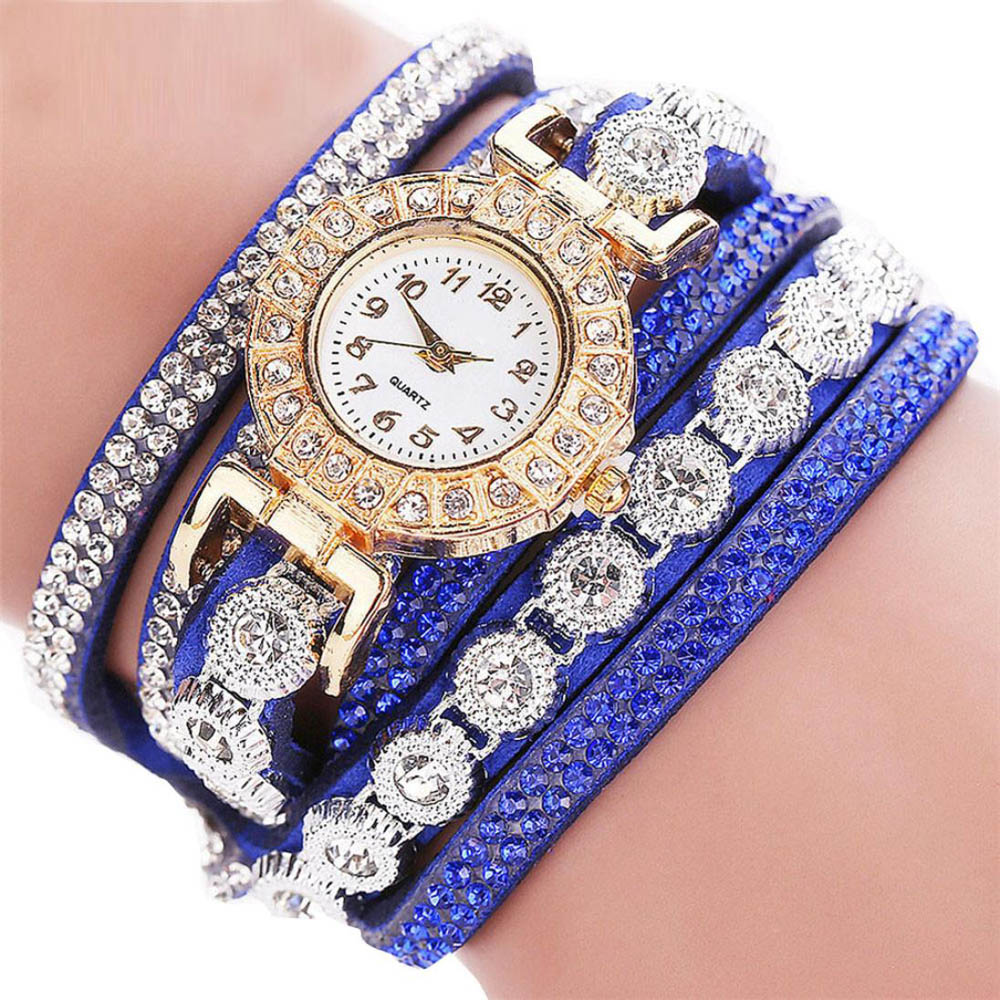 Fashion Luxury font b Women b font Rhinestone Bracelet font b Watch b font Ladies Quartz
