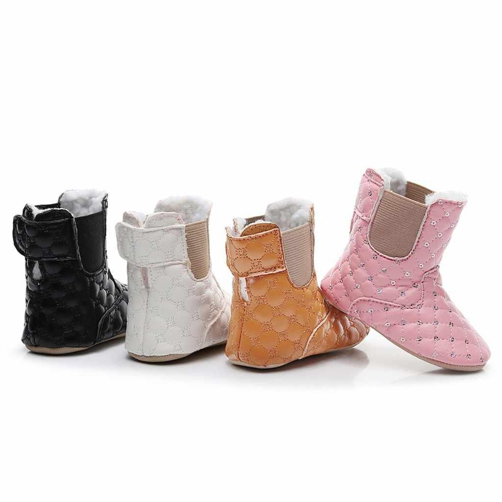 2018 Bán Chạy Từ Mới Thu Đầu Mùa Đông Tuyết Giày Nữ PU Gót Bằng Giày Bốt Thời Trang Giữ Ấm Giày Bốt Nữ thương Hiệu Người Phụ Nữ Mắt Cá Chân