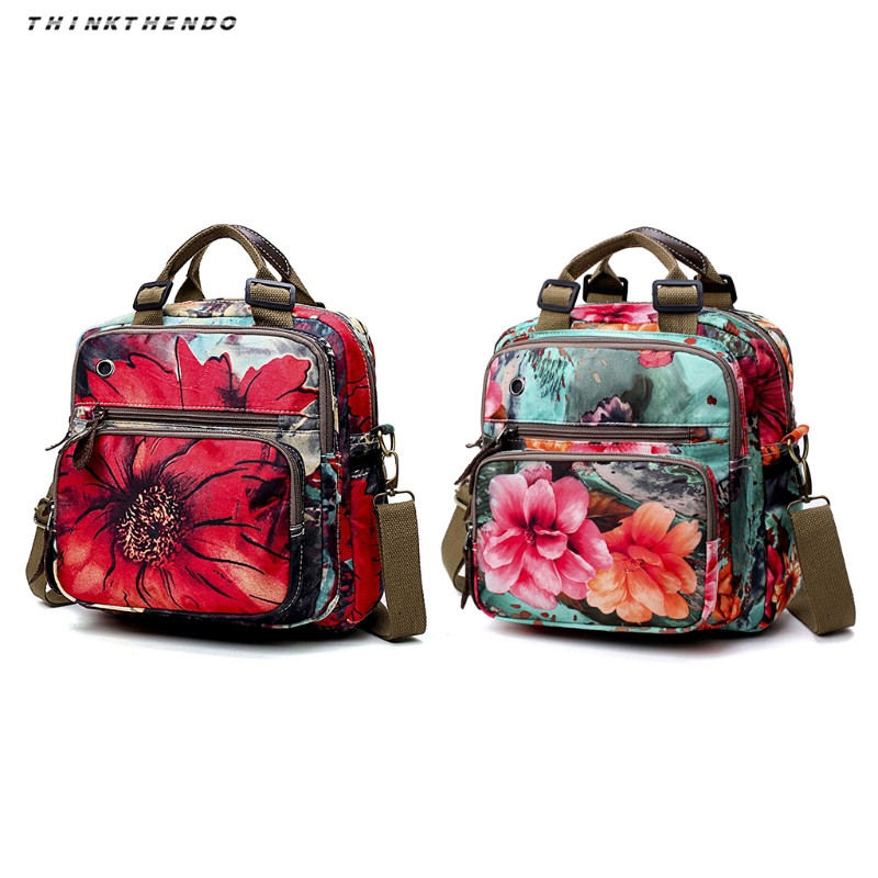 d04aa025dccc THINKTHENDO Fashion Women Floral Diaper Bag Cute Mommy Backpack Lady Female  Multifunction Shoulder Crossbody Baby Bags New 2018-in Backpacks from  Luggage ...