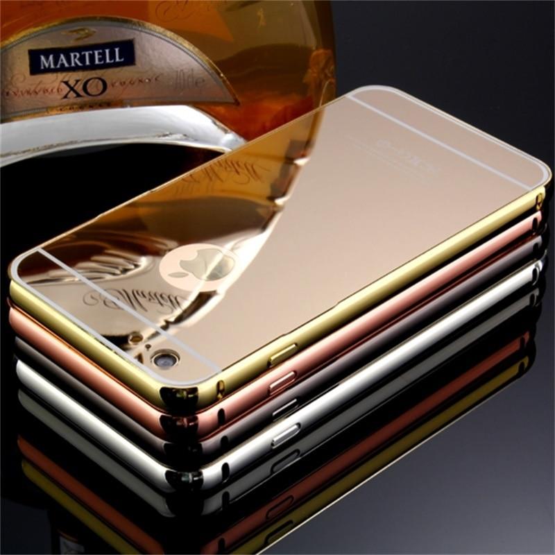 Xinchentech Untuk iphone 6/6 S Plus Kasus Mewah Cermin Logam + Hard - Aksesori dan suku cadang ponsel - Foto 5