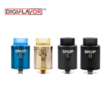Original Digiflavor Drop RDA with BF squonk 510 pin 24mm electronic cigarette tank large post-holes Stepped airflow design