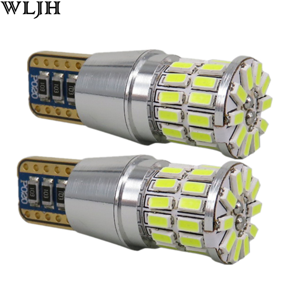 WLJH 2x Canbus LED T10 W5W Clearance Parking Light Car Led untuk AUDI A2 A4 8L 8P B5 B6 A6 4B 4F A8 D2 TT C5 C6 C7 S2 S4 Q3 Q5 Q7