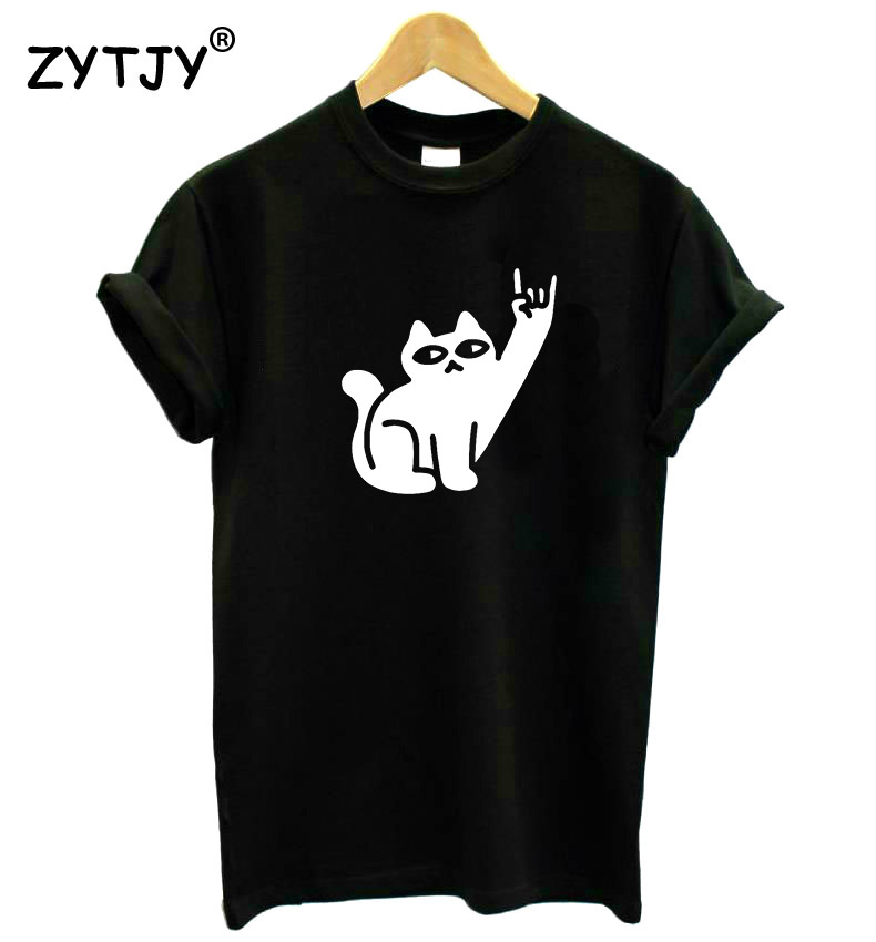 Cats Like Metal Print Women Tshirt Cotton Casual Funny T Shirt For Lady Yong Girl Top Tee Hipster Tumblr Drop Ship S-24