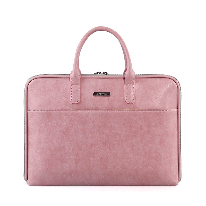 Oil Max Style Minimalist 11 13 15 inch Laptop Bag OL Lady Business Briefcase Notebook Handbag for Macbook Air Pro Lenovo HP oatsbasf genuine leather laptop bag for macbook pro air 13 3 rose