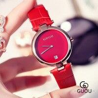 Elegant Red Watches Women Montre Femme Fashion Simple Top Brand Ladies Watch Trendy Quartz Clock Female hodinky Relogio Feminino