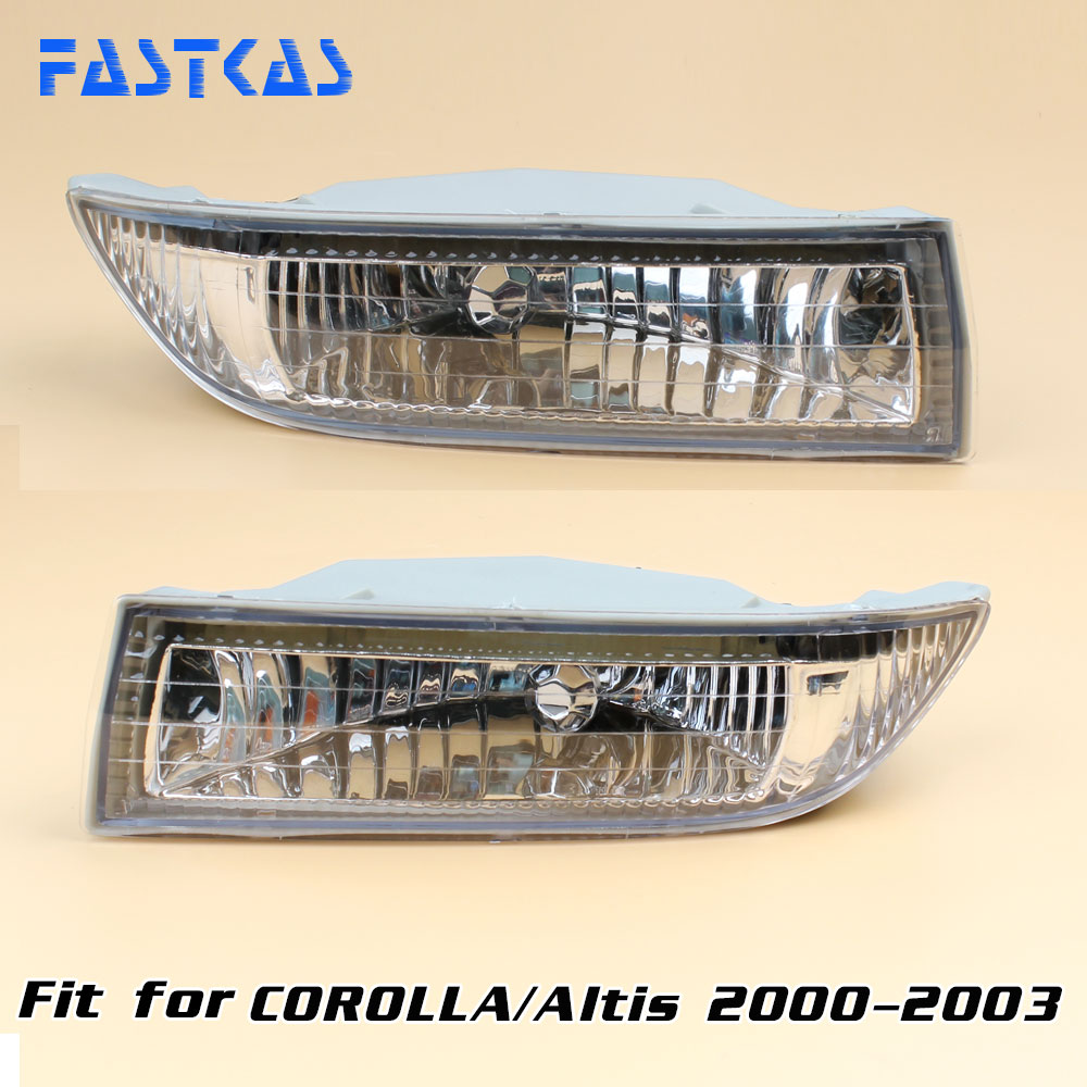 Car Fog Light for Toyota Corolla / Altis 2000 2001 2002 2003 Left & Right Fog Lamp bumper light with Switch Harness Fog Lamp 12v 55w bulb car fog light lamp for 2003 toyota corolla ip67 free shipping