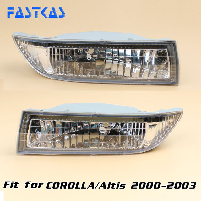 Car Fog Light For Toyota Corolla Altis 2000 2001 2002 2003 Left Right Lamp Bumper With Switch Harness