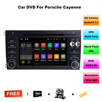 Android 7 1 2 Two Din 7 Inch Car DVD Player For Porsche Cayenne With Quad