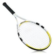 Новое поступление ракетки для тенниса 1 шт. углеродное волокно Материал верха Теннисная ракетка для комнатных и уличных игр тренировка с чехлом