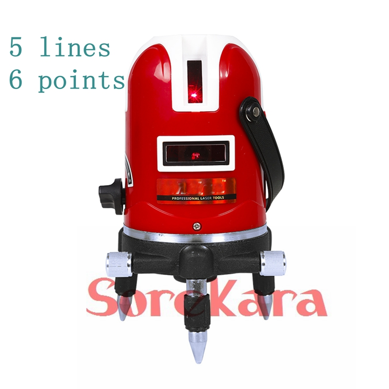 ФОТО 5 Lines 6 Points 360 Degree Rotary Self Leveling Precision Cross Laser Level Kit Measurement Equipment YMM10