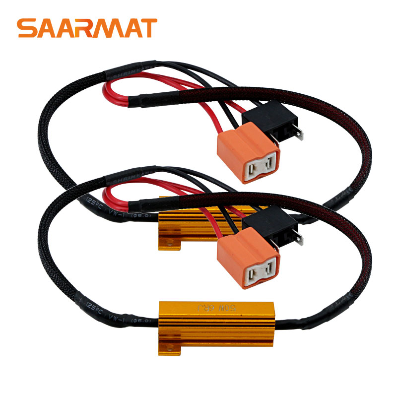 2x Error Free Load Resistor Wiring Harness H7 Canbus Decoders For LED Headlight Bulb Fog Light DRL(China)