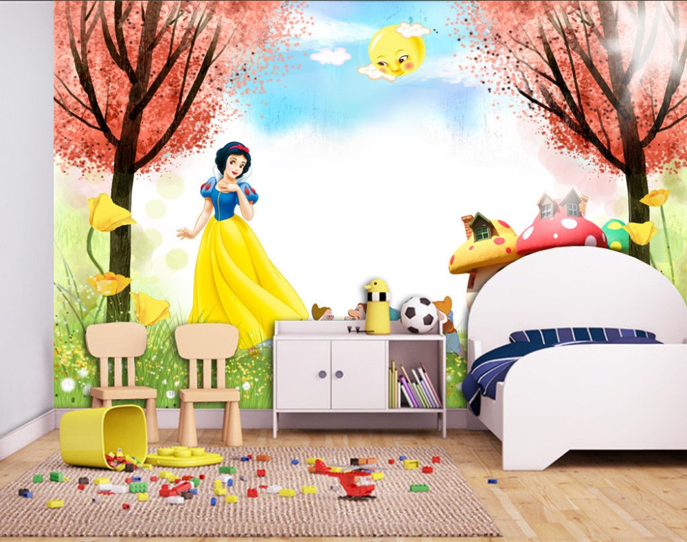 Cartoon 3d wallpaper snow white photo wallpaper princess wall cartoon 3d wallpaper snow white photo wallpaper princess wall mural interior decoration girls bedroom hotel art room deocr trees in wallpapers from home amipublicfo Gallery