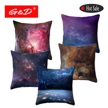 Galaxy Cushion Covers Universe Outer Space Themed Decorative Throw Pillow Cover Sofa Bed Home Decor Pillow Case Funda Cojin(China)