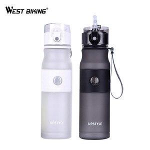 WEST BIKING Bicycle Water Bottle Portable Leak-Proof Cycling Water Bottle Sports Bottle Filter Botella de agua 620ML Bike Bottle(China)