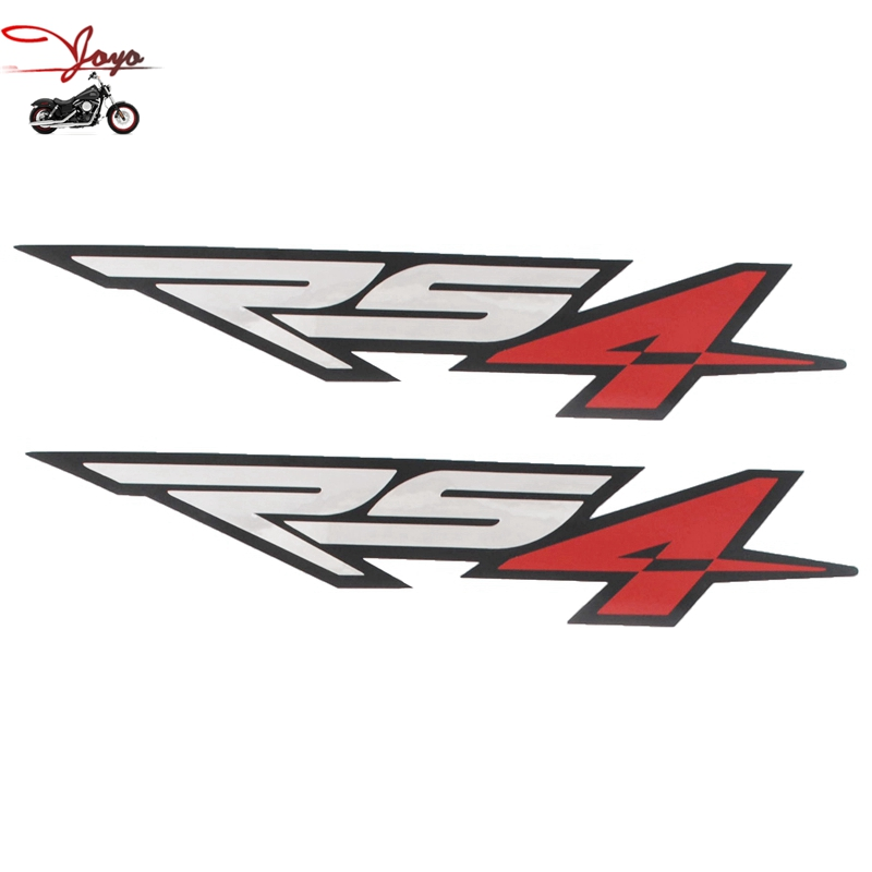 Motorcycle Fuel Tank Decal Sticker Fairing Decals Refit For Aprilia RS4 Small X 2 Chrome Red Black 180mm