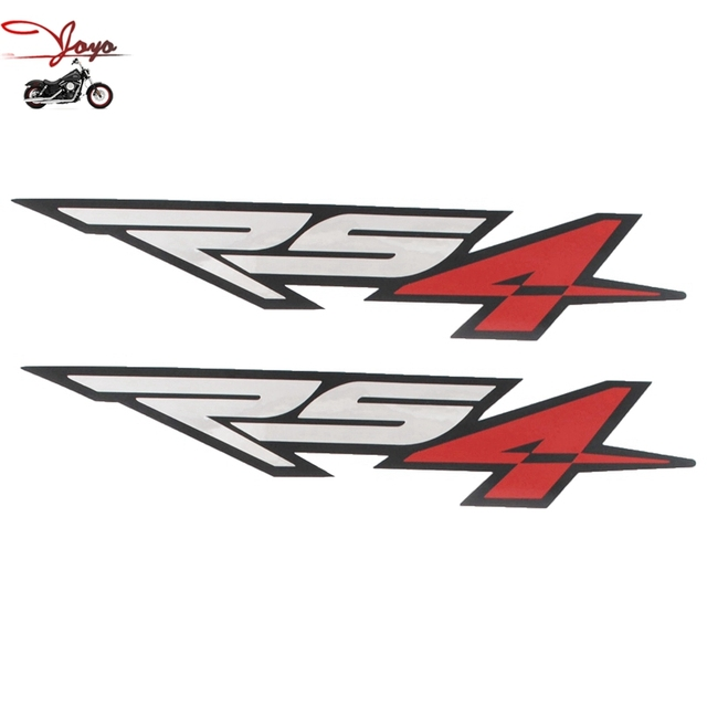 Motorcycle fuel tank decal sticker fairing decals refit for aprilia rs4 small x 2 chrome red