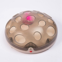 Cats Toys USB Rechargeable Feather Toy Cat Interactive Plate 16 Holes Turntable Automatic Scratch Board Toys For A Cat