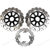For Honda VTR F SUPER HAWK 1000 1997 2007 Front Rear Brake Disc Disk Rotor Kit Motorcycle VTR1000F 2002 2003 2004 2005 2006