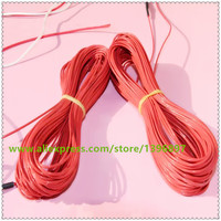 Red Heating Floor Heating Cable System Of 2 3mm PTFE Carbon Fiber Wire Electric Floor Ho