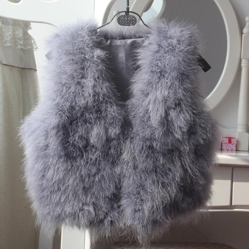 2017 autumn and winter new ostrich hair short fashion temperament fur vest coat
