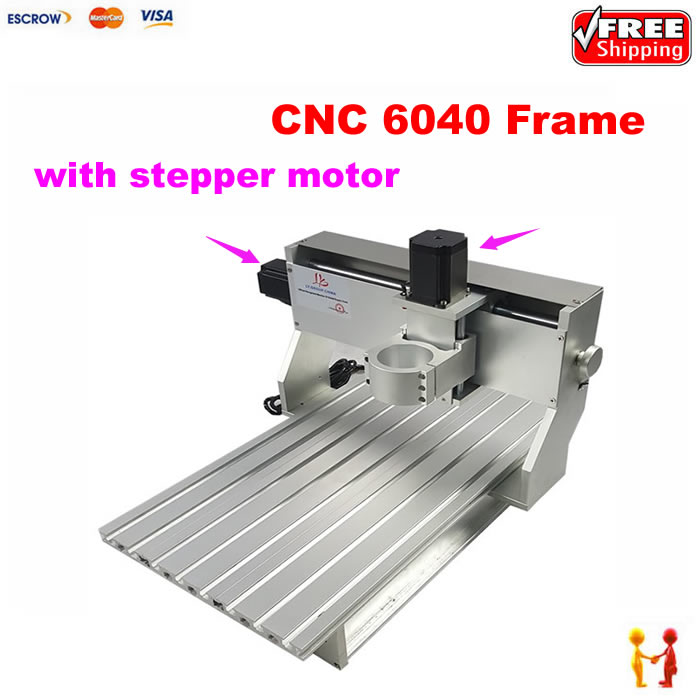 DIY cnc router frame 6040 CNC with stepper motor hot selling small equipment business with stepper motor cnc router 600 900mm 600 400mm