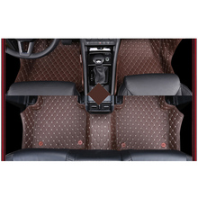 free shipping wearable fiber leather car floor mat for skoda kodiaq 2017 2018 7 seats