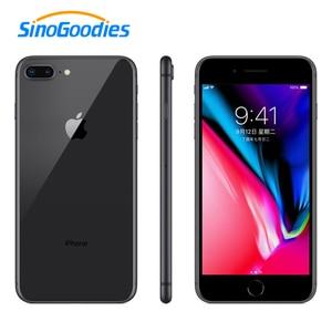 Image 1 - Unlocked Apple iphone 8 artı Smartphone iOS 3GB RAM 64 256GB ROM 5.5 inç 12MP parmak izi 2691mAh LTE cep telefonu