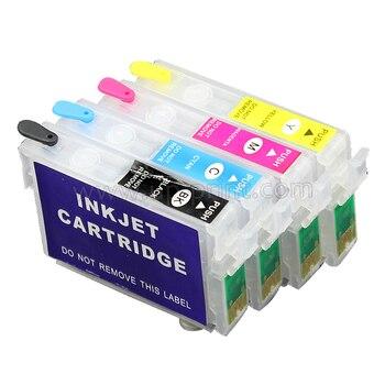 20 juegos de cartuchos de tinta recargables para SX205/SX210/SX400/SX405/SX510/SX600/SX610/ B40W/BX300F T0711 - T0714