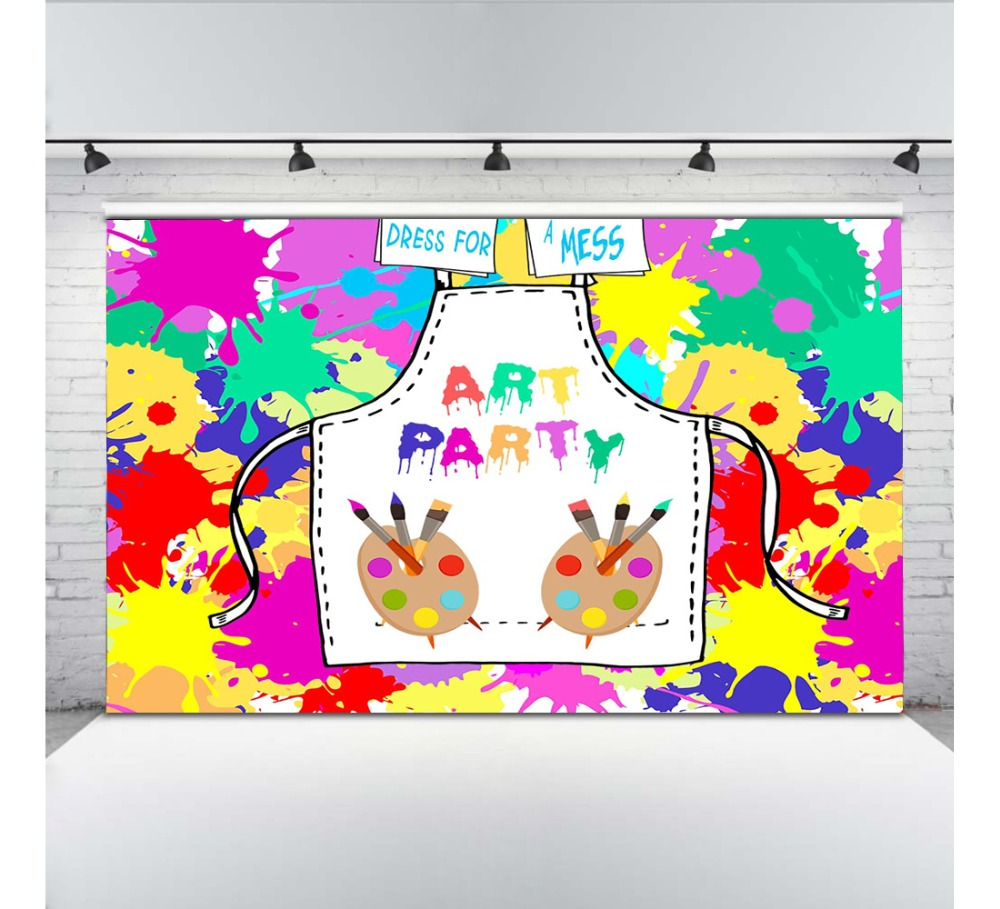 Art Party Photography Backdrops Graffiti Photo Background for Shoot Birthday Decoration Props brush