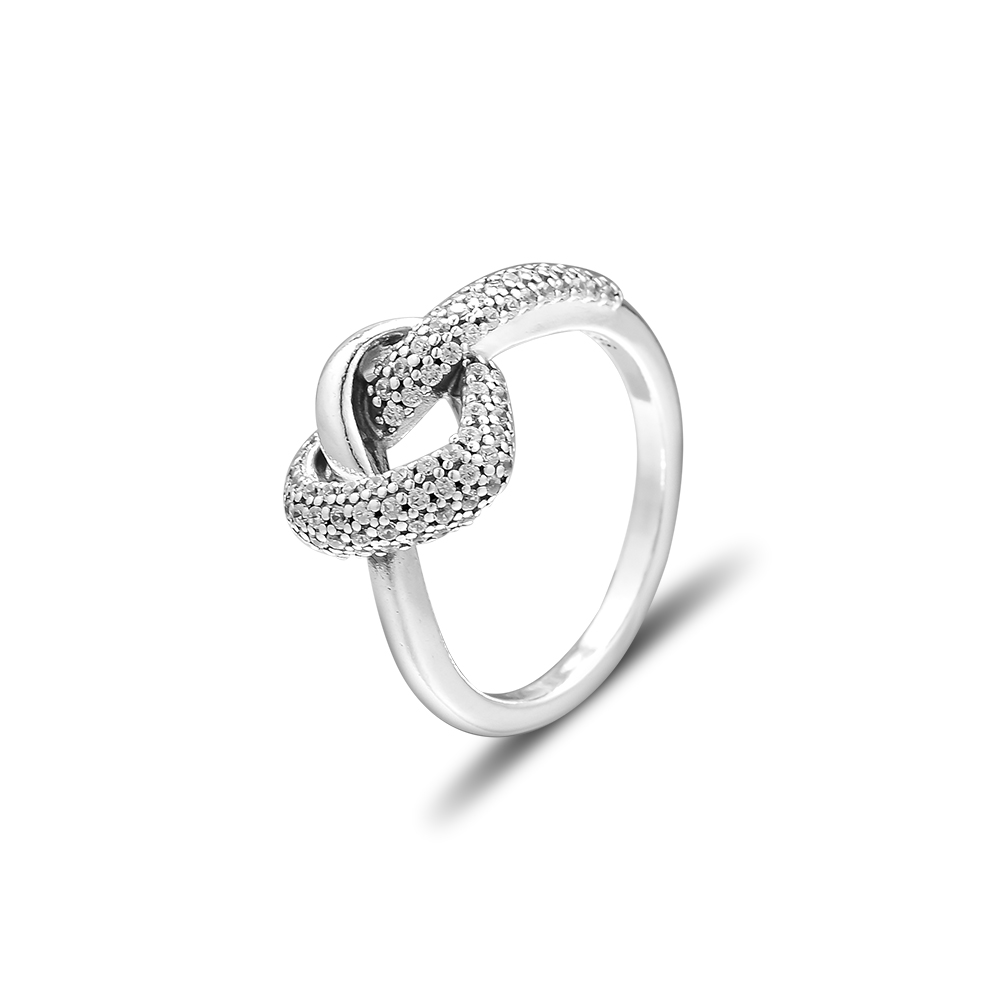 Pandulaso Knotted Heart Ring Mothers Day 925 Sterling-Silver-Rings DIY Fashion Feamle Rings European Jewelry For Women Pandulaso Knotted Heart Ring Mothers Day 925 Sterling-Silver-Rings DIY Fashion Feamle Rings European Jewelry For Women