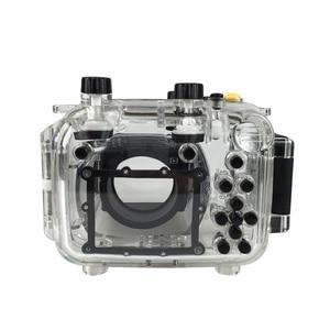 Image 4 - لكانون G11 G12 كاميرا مثبت مضاد للماء PC البلاستيك حالة شفافة غطاء الغوص تصنيف عمق 40 m كاميرا مراقبة وظائف
