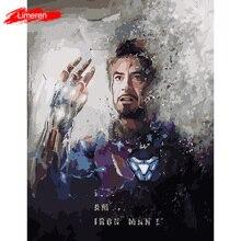 Мстители эндшпиль I am Iron ManFrameless картина акриловая краска по номерам DIY Краска по номерам уникальный подарок масляная краска ing
