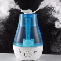 Humidificador de aire ultrasónico 3L Mini humidificador de Aroma purificador de aire con lámpara LED humidificador para difusor portátil nebulizador|Humidificadores| |  -