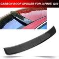Fibra De carbono Traseiro Telhado Spoiler Asa Lábio Superior Fit para 14-15 Infiniti Q50