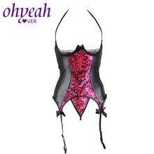 95acbbf70 Ohyeahlover Erotik Giyim Open-crotch Femme Lingerie Sexy En Cuir RM70134  Leather