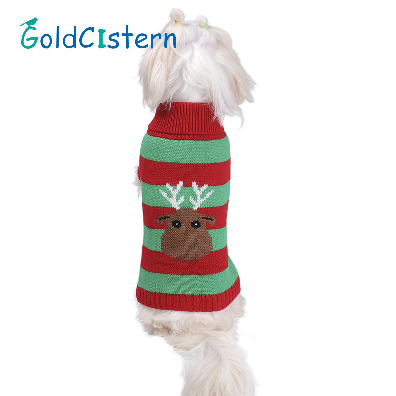 Pet Dog Cat Warm Clothes Sweaters Reindeer Design For Dog Christmas Festive Apparel Sweater For Puppy Kitten Clothes for Dogs