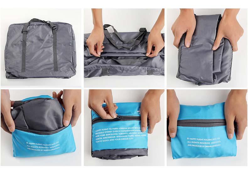 Topdudes.com - Large Capacity Waterproof Nylon Travel Bag
