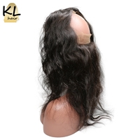 KL Hair Pre Plucked 360 Lace Frontal Body Wave Natural Hairline Lace 360 Frontal Closure Brazilian