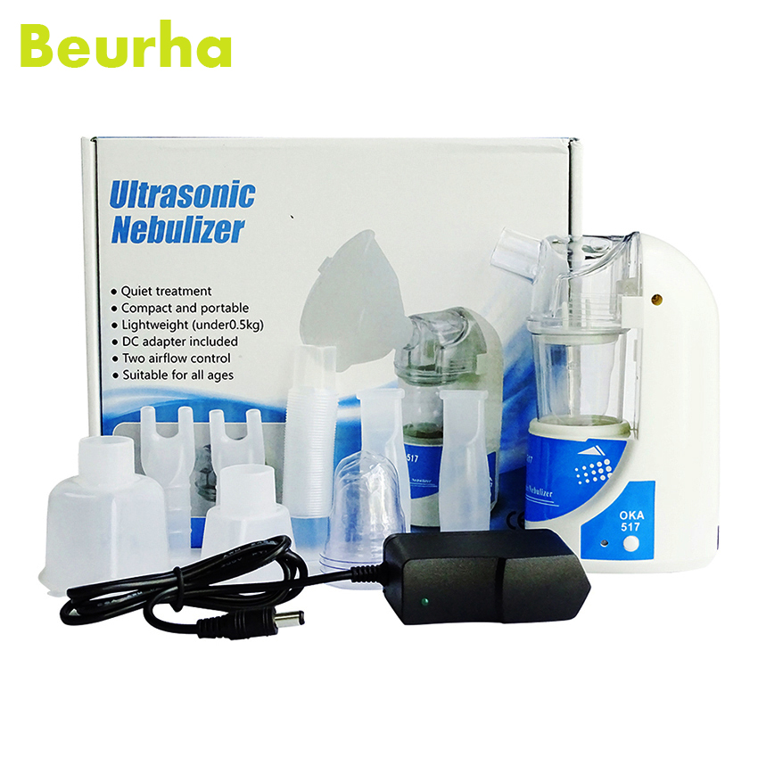 Beurha Medical Nebulizer Portable Mini Inhaler Ultrasonic Health Home Sprayer Children Adult Asthma Trachea Treatment Equipment home health care portable automizer ultrasonic nebulizer